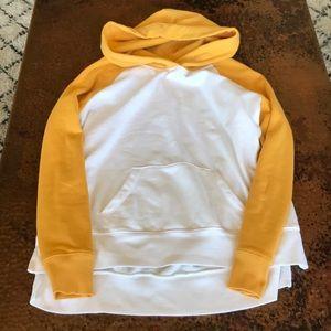 {Old Navy} White & Mustard sweatshirt. Size Small.